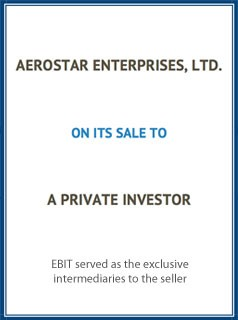 EBIT Associates - Sell My Business - Aerostar