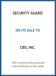 EBIT Associates - Sell My Business - Security Guard